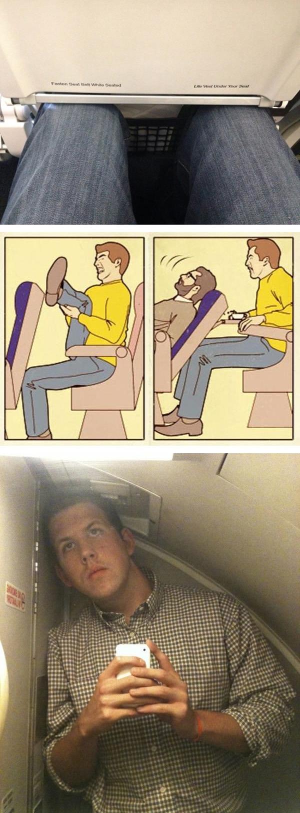 Đi máy bay cũng bị coi như con ghẻ vì chẳng có chốn nào đủ chiều cao, đủ chiều dài cho mình dung thân cả.