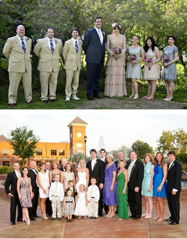 Hình cưới cũng thật là hài hước, đặc biệt là khi cả nhà chú rể đều cao trong khi cả nhà cô dâu thì bình thường.