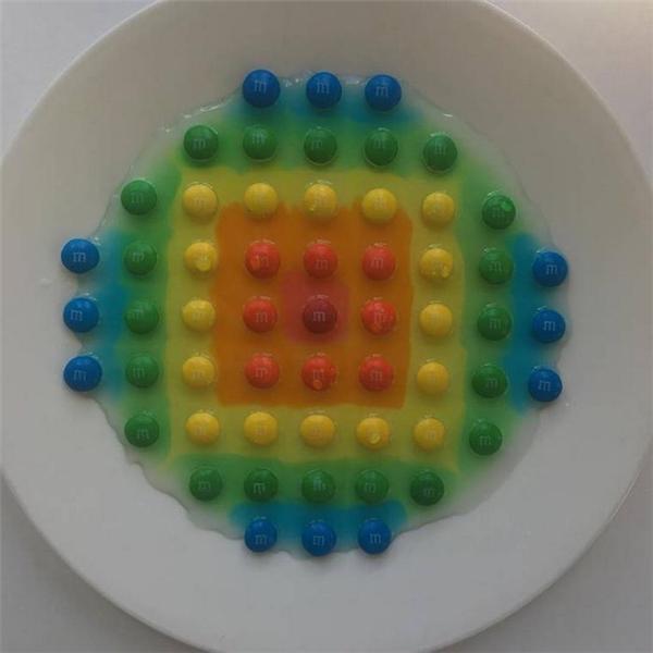 Có ai ngờ rằng kẹo khi bỏ vào nước lại có thể trông kích thích thị giác đến như vậy.