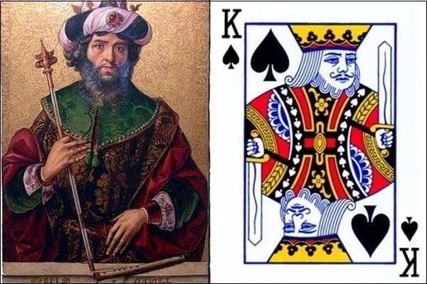 K bích là vua David.