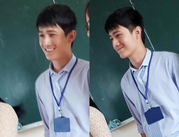 Thầy giáo điển trai với nụ cười tỏa nắng. (Ảnh: FB)