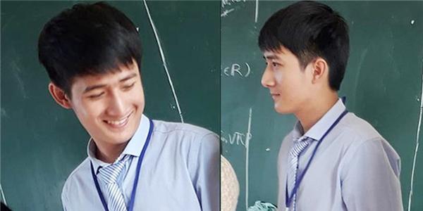 Thầy giáo trẻgây thương nhớ bởi vẻ ngoài điển trai, nam tính với nụ cười đẹp như nắng mùa thu. (Ảnh: FB)