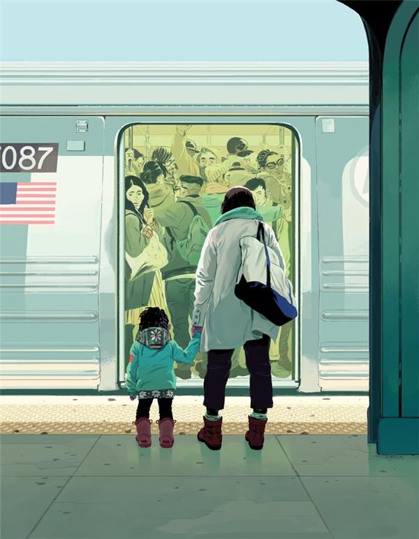 Nước Mỹ rộng lớn kia đang vô cùng chật chội, ở cái nơi văn minh ấy người ta phải chen lấn nhau mỗi ngày để không bị mở cửa quăng xuống xe bất cứ lúc nào vì họ muốn chào đón những công dân mới, hoàn hảo hơn? Phải chăng hai mẹ con đang cầm tay nhau hướng đến một giấc mơ mang tên nước Mỹ ấy phải suy nghĩ lại về giấc mơ của mình?