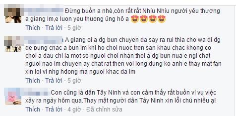 Sau sự cố ném chai, khán giả Tây Ninh lên tiếng xin lỗi Trường Giang - Tin sao Viet - Tin tuc sao Viet - Scandal sao Viet - Tin tuc cua Sao - Tin cua Sao