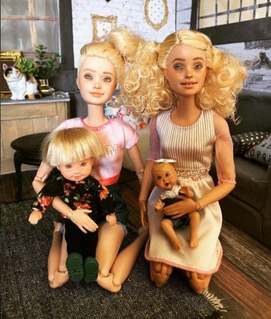 Những cô àng được coi là chuẩn mực của cái đẹp giờ đã làm mẹ.