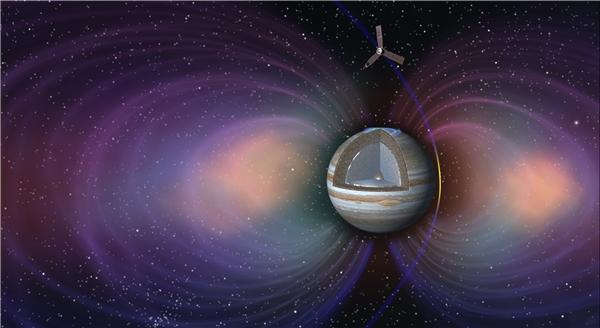 Juno bay cách Sao Mộc 4.300 km để tránh các vành đai bức xạ từ hành tinh này.