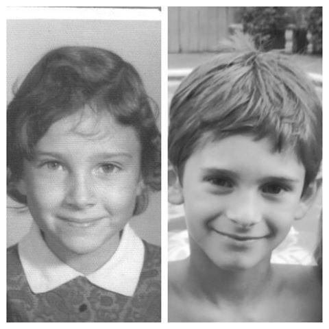 Bà nội và cháu trai trông chẳng khác nào hai chị em song sinh.