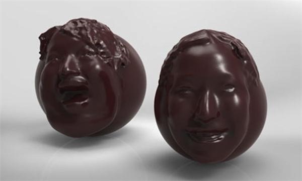 Socola in 3D khuôn mặt của các cặp đôi.