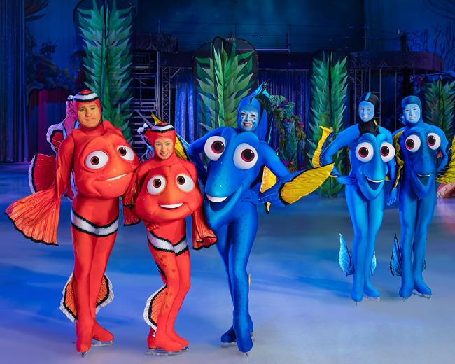 """""""Đi Tìm Dory"""" một trong các nhân tố mới của Thế Giới Diệu Kỳ Disney On Ice năm nay."""