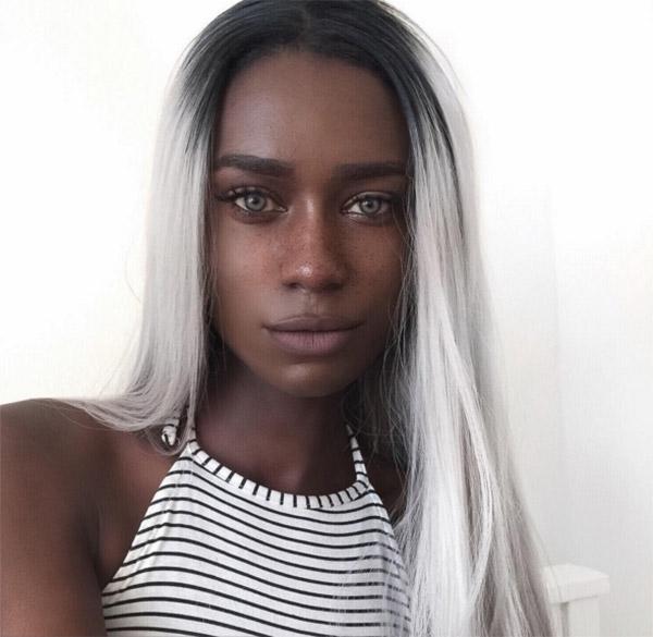 Da đen, tóc trắng - cô nàng khuấy động Instagram bằng vẻ đẹp ma mị