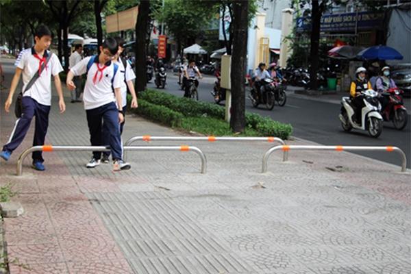 Vỉa hè trên đường Nguyễn Bỉnh Khiêm. (Ảnh: Internet)