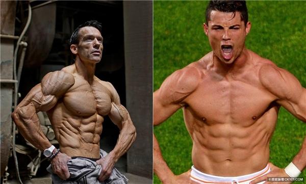Với tỉ lệ mỡ cơ thể 2,3%, Helmut thừa sức đánh bạiCristiano Ronaldo.