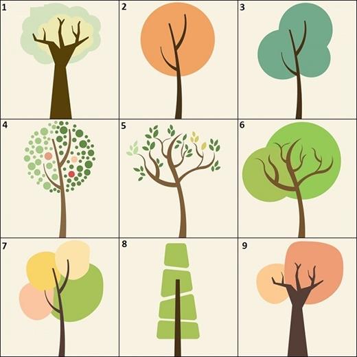 Chọn một trong những hình cây này để đoán xem bạn là người như thế nào.