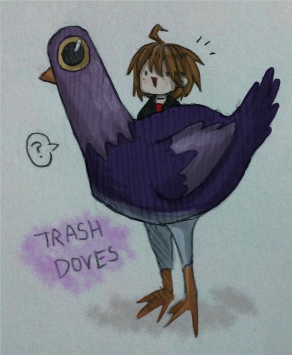 Tranh vẽ Trash Dove.