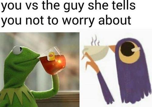 """""""Bạn và chàng trai mà cô ấy nói bạn không cần phải lo lắng về anh ta..."""""""