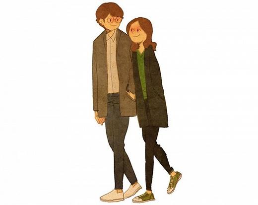 Đối với họ, yêu có thể là những khoảnh khắc khó quên khi cả hai tay trong tay cùng dạo phố, bàn tay nhỏ nhắn, xinh xắn của cô gái ấy lọt thỏm vào trong túi áo khoác của chàng trai.