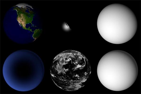 Các bức ảnh gởi về từ vệ tinh Terra đượcReto Stöckli lọc hết các đám mây.
