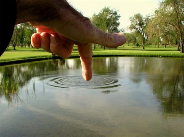 Nghịch quá đấy! Coi chừng đục hết cái hồ bây giờ.