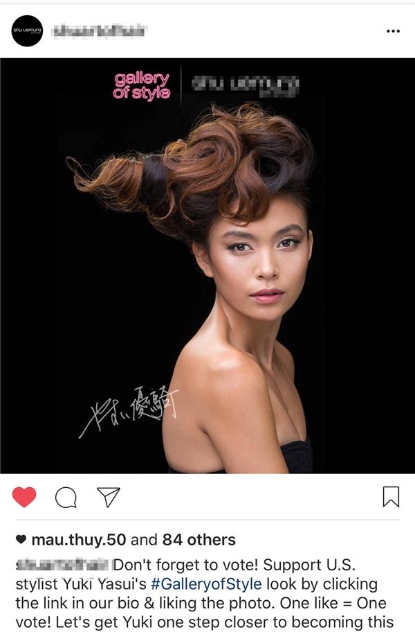 Mâu Thủy là mẫu Việt duy nhất góp mặt trong chiến dịch quảng cáo này. Chân dung của quán quân Vietnam's Next Top Model 2013 và 11 gương mặt mẫu ngoại quốc khác được quảng bá trên trang Facebook, Instagram chính thức của thương hiệu.