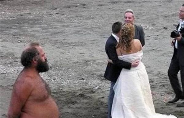 Đây đáng lẽ là một bức ảnh chụp rất đẹp trong ngày cưới...