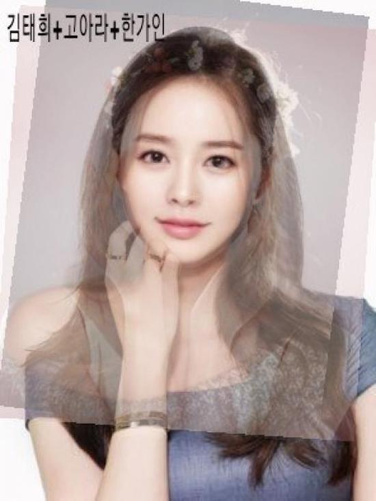 Mỹ nhân xinh như mộng này có các đường nét hòa trộn từKim Tae Hee, Go Ara và Han Ga In.