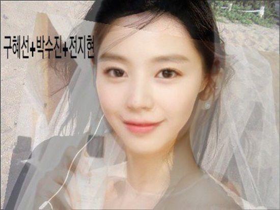 Còn đây là gương mặt được photoshop từ 3 mỹ nhânGoo Hye Sun, Park Soo Jin và Jun Ji Hyun.