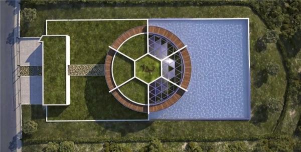 Dinh thự của Messi nhìn từ trên cao.