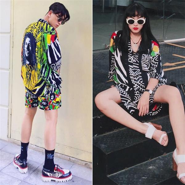 2 set trang phục đầy màu sắc cuốn hút của Châu Bùi và Decao (tên gọi thân mật của Cao Minh Thắng).