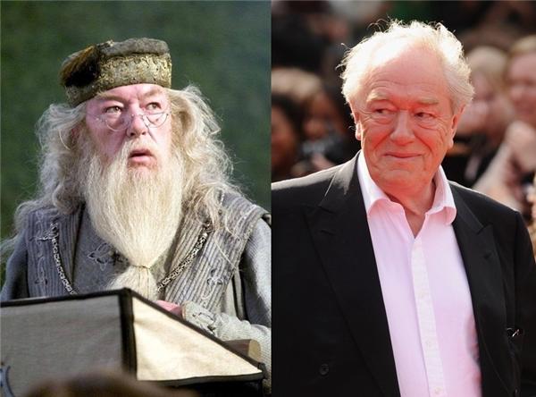 Cụ Dumbledore (do diễn viên Michael Gambon thủ vai)khi không có mái tóc dài cùng bộ râu trắng muốt thì trông gần gũi như thế này đây.
