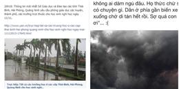 Cộng đồng mạng thức trắng theo dõi diễn biến siêu bão