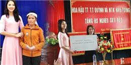 Hoa hậu Trần Thị Quỳnh hướng về miền Trung trước ngày đi thi Mrs Worlds