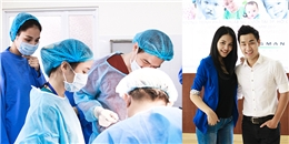 Hoa hậu Hương Giang và MC Nguyên Khang khoác áo bác sĩ vào phòng mổ