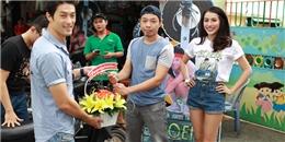 Thái Hòa cùng Johnny Trí Nguyễn khai trương tiệm sửa xe miễn phí