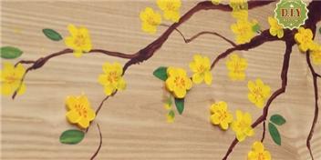 [Mlogger]Tái chễ gỗ thô cứng thành cành mai mềm mại chào xuân mới