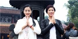 Maya cùng Trang Trần nô nức trẩy hội chùa Hương