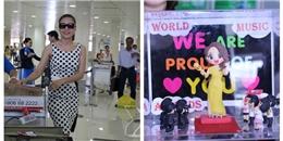 Mỹ Tâm gây 'tắc nghẽn' tại sân bay Tân Sơn Nhất