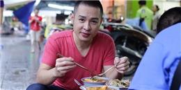 Bắt gặp Hoàng Hải lang thang ăn uống vỉa hè tại TP HCM