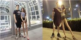 Cô gái chân dài miên man trở thành tâm điểm chú ý của dân mạng