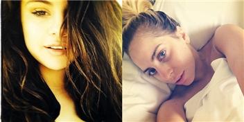 [Mlog Sao] Selena Gomez tươi tắn, Lady Gaga mặt mộc chào ngày mới