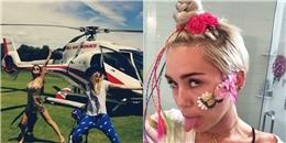 [Mlog Sao] Selena Gomez 'nhắng nhít' trước giờ cất cánh, Miley Cyrus tự làm xấu mình