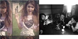 [Mlog Sao] Sooyoung khoe hình cực xinh tươi, G-Dragon tạo dáng bên Daesung và Taeyang