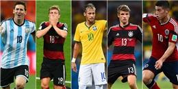 [Bóng Đá] Top 20 ngôi sao sáng nhất World Cup 2014