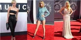 'Ngàn sao' hội tụ khoe sắc trên thảm đỏ VMAs 2014