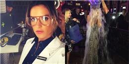Alessandra hóa thân thành nữ bác sĩ, Heidi Klum hưởng ứng trào lưu dội nước đá