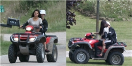 Selena Gomez mạnh mẽ lái xe địa hình chở Justin Bieber