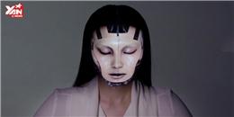 Kinh ngạc với kỹ thuật trình diễn  trang điểm điện tử  của người Nhật