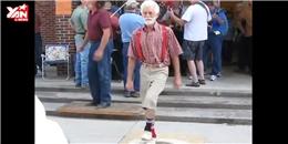 Cụ già nhảy breakdance khiến người xem trố mắt