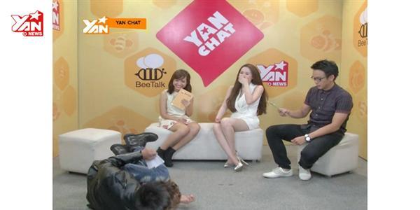 """Hồ Quang Hiếu """"lăn lê bò toài"""" tại trường quay YAN Chat"""