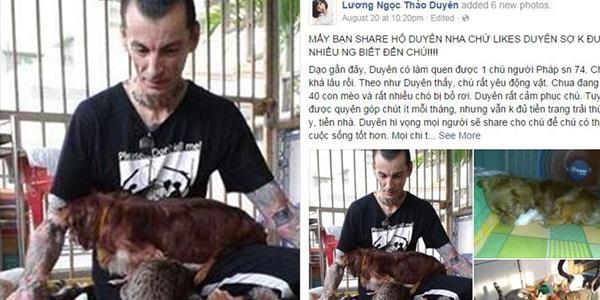 Dân mạng kêu gọi giúp đỡ người đàn ông Pháp nhận nuôi đàn chó mèo hơn 40 con