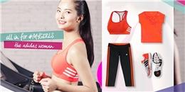 Trẻ trung với lookbook đồ tập gym dành cho bạn gái của adidas